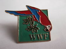 W.W.F. World Wildlife Fund Parrot Pin Badge