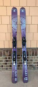 Blizzard Black Pearl skis, 152cm long w/Salomon bindings