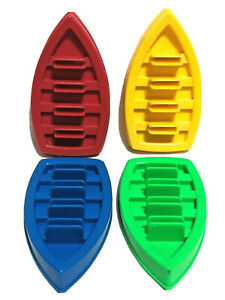 Game Parts Pieces Go Fish! 1998 Fisher Price 4 Boats Red Blue Yellow Green