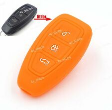 Orange Silicone Cover Smart Key Case For Ford Fiesta C-Max Mondeo Titanium Focus