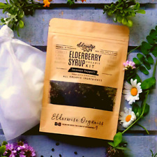 Elderberry Syrup Kit - Makes 32oz - Organic Ingredients - Comes with Brewing Bag
