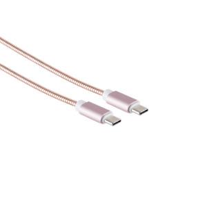 1m USB C Kabel Typ C zu Typ C PD Schnellladekabel Samsung  S21 Steel Roségold