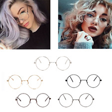 Big Round Metal Frame Glasses With Clear Lens Vintage Retry Geek Fashion Glasses