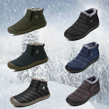 Men's New Winter Warm Outdoor Waterproof Hiking Ankle Snow Boots Shoes Size 6-13