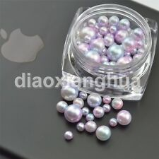 1 POT Mixed Sizes Pearl Resin Rhinestone  Nail Art Decoration nails accessoires