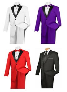NWT TUXEDO Jacket & Pant Set Prom Wedding Formal Quinceanera Tux Satin Lapel