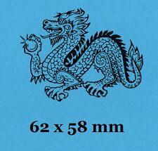 Dragón Chino Sello de Goma-respaldada con espuma se aferran