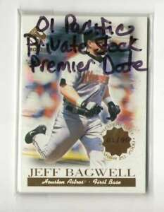 2001 Pacific Private Stock Premier Date (Serial #ed out of 90) - HOUSTON ASTROS