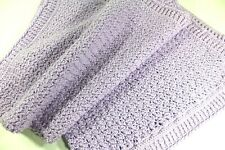 "Handmade Lavender Light PURPLE Crochet AFGHAN LAP BLANKET BABY 40"" x  45"""