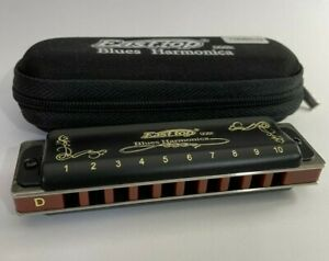 Easttop T008S  Black Harmonica in key of D - diatonic 10 hole