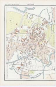c1885 Map ENGLAND - OXFORD Oxfordshire Bartholomew (RA72)