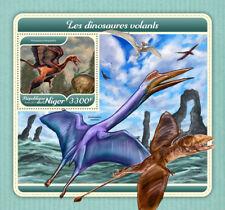 Niger 2017 MNH Flying Dinosaurs 1v S/S Dinosaur Prehistoric Animals Stamps