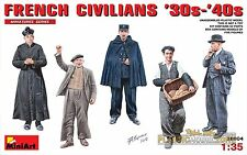 FRENCH CIVILIANS '30s-'40s (5 FIG.) MINIART 1/35 PLASTIC KIT
