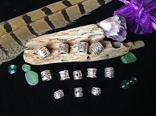 Dreadlock Beads **BUMPER MINI MIX PACK** 12 x Silver Dread Beads 4-5mm Hole Size