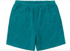 Supreme Terry Jacquard Allover Logo Shorts Teal Fleece Medium SS19 New 32x7