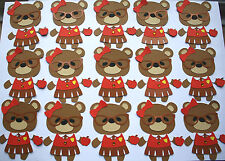 30 THANK YOU TEACHER  TEDDY BEAR TOPPERS  24 plus 6 free 30