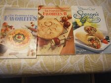 Lot - 3 New Pampered Chef Cookbooks - Favorites 1 & 2, Seasons Best 2004