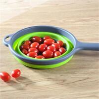 Silicone Strainer Colander Basket Fruit Vegetable Collapsible Kitchen WT