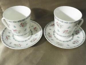 Lomonosov , 2 Espressotassen / Kaffeetassen + 2 Untertassen