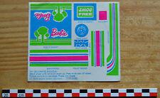 Autocollant sticker  des années 1980, Barbie décoration pour vélo