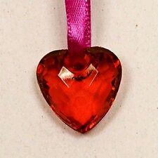 Coeur effet cristal x 10 rouge. Décoration de mariage