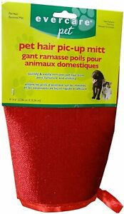Evercare Pet Hair Pic Up Mitt Remover Lint Pickup Reusable Clings 6X5 inches