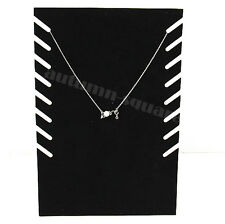 Black New Velvet Jewelry Necklace Chain Pendant Display Stand Holder Showcase