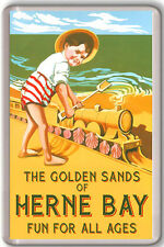HERNE BAY VINTAGE FRIDGE MAGNET IMAN NEVERA