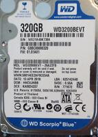 "Western Digital WD3200BEVT-26A23T0  320gb 2.5"" Sata Laptop Drive"