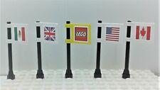 Lego City 5 Flags. American British Canada Mexico Lego DOUBLE sided.  Souvenir