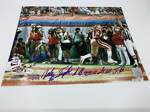 John Taylor autographed 11x14 photo San Francisco 49ers Beckett Witnessed BAS