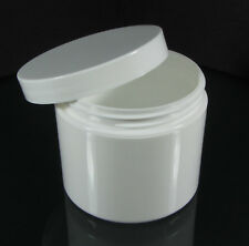 14 Cosmetic Jars 4 oz White Plastic Containers + Pressure Sensitive Liners #9313