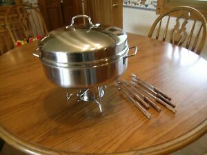5 Quart Stainless Steel Round Chafing Dish Buffet Catering with High Dome Lid