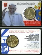 Vatican Coin Card 2018.  50 coin card disponibili