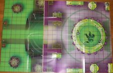 OA THE BIG W / QWARD ARMORY AND FORGE War of Light DC HeroClix Map OP month 2