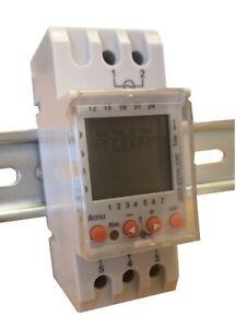 DIN RAIL DIGITAL TIMER DAIL/WEEKLY 230VAC 1 CHANNEL 16A