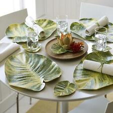 Design Ideas Bali Hai POTHOS SINGLE PLACEMAT Leaf shape/green foam 6416414