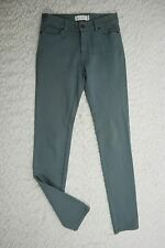 ZIMMERMAN sage green cotton blend fitted slim skinny stretch jeans size 0/8 GUC