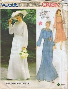 Vintage Vogue Sewing Pattern 2017 Misses Dress Size 14 Bridal Or Lingerie Uncut