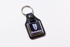 Reliant Scimitar Keyring - Leatherette & Chrome Classic British Car Keyfob