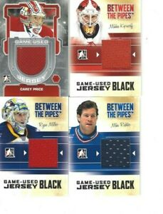 2012-13 IN THE GAME BETWEEN THE PIPES CAREY PRICE GAME USED JERSEY