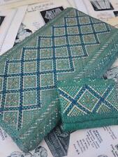 BELLISSIMO ANTICO Art Deco Tessuti di paglia Pochette & Portamonete