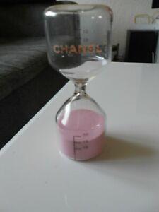 Véritable sablier minuteur en verre avec sable rose CHANEL