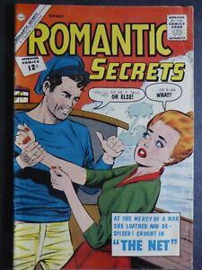 Romantic Secrets #41 ~ (1962 Charlton) ~ Threat cover! ~ Abduction story ~ VG/FN