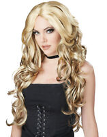 Long Curly Blonde Fashion Celebrity Womens Costume Cosplay Wig