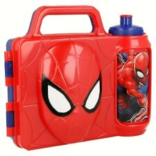 Marvel Spider-Man 3D Pausen-Set Brotdose + Trinkflasche Lunch-Set