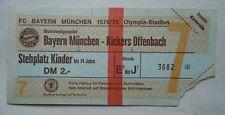 Sammler TICKET BL 1974/75 FC Bayern München - Kickers Offenbach