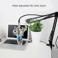 1pc Adjustable Mic Desk Stand Live Radio Recording Microphone Phone Metal Stand