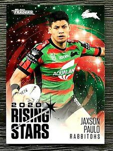 2021 NRL TRADERS '2020 RISING STARS' TRADING CARD - JAXSON PAULO/RABBITOHS