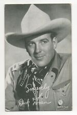 Dick Foran 1940's 1950's Salutations Cowboy Exhibit Arcade Card